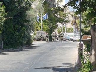 Military patrols in Hebron