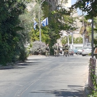 Military patrols in Hebron