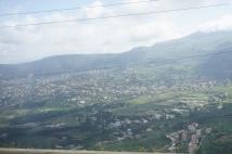 Driving through the Bekaa Valley