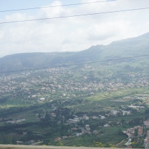 Driving through the Bekaa Valley
