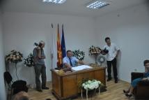 Bitola mayor holding a speech
