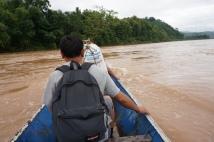 Crossing the Nam Khan river