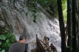 Top of Kuang Xi waterfall