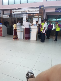 Check-in in Bagan airport