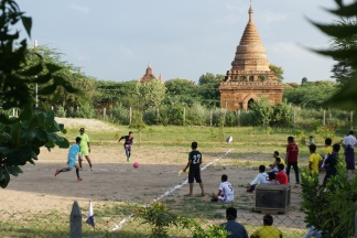 Football amongst the temples