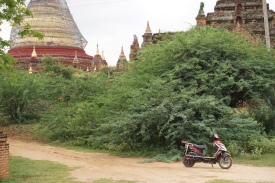 E-bike outside Dhamma Yazika