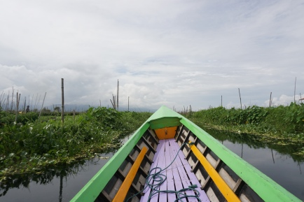 Entering the floating gardens