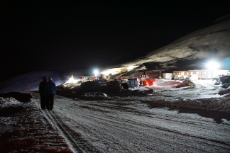 The construction site at the Global Seed Vault.