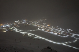 Longyearbyen as seen from Plateau mountain.