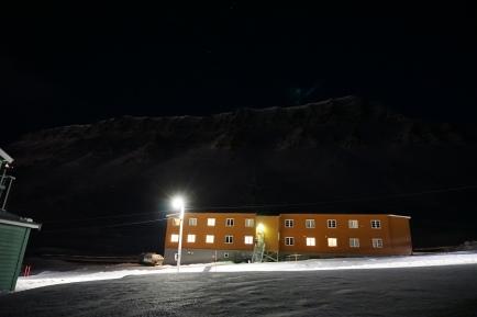 Gjestehuset 102. Mountain in the background