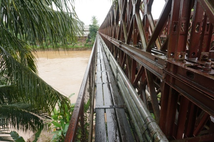 Pedestrian bridge across Nam Khan river