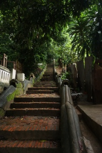 Stairs up mount phousi