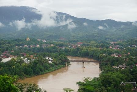 Great view of the Luang Prabang and Nam Khan river