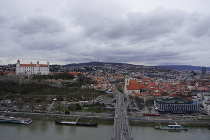 Panorama of the old city and castle