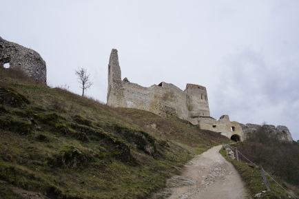 Walking up the Cachtice castle