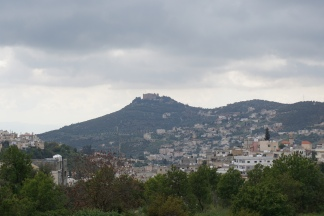 Ajloun castle from the distance