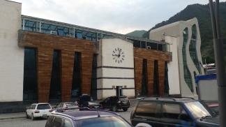 Mestia city hall / police station, tacky