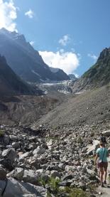 The actual glacier