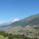 Mount Ushba as seen enroute to Ushguli