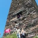 Climbing an old watch tower